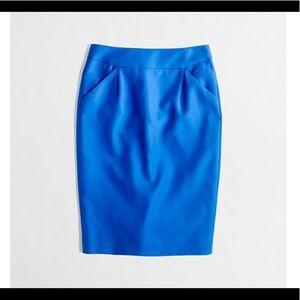 J. Crew Factory Blue Pencil Skirt